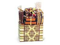 Gift basket with tower