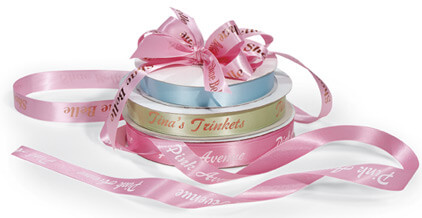Custom printed satin ribbon