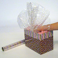 Cello gift packaging