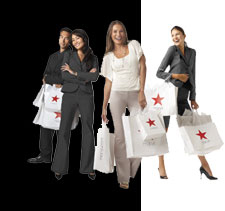 Red Star Bags at a Popular Department Store