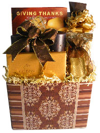 Gift basket box with bench