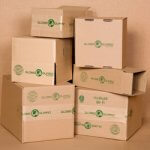 Globe Guard 100% recycled (PCW) content shipping boxes