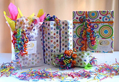 Colorful gift packaging at Celebration Shoppes