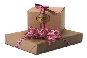 Kraft paper with pink