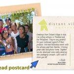 Distant Village postcard