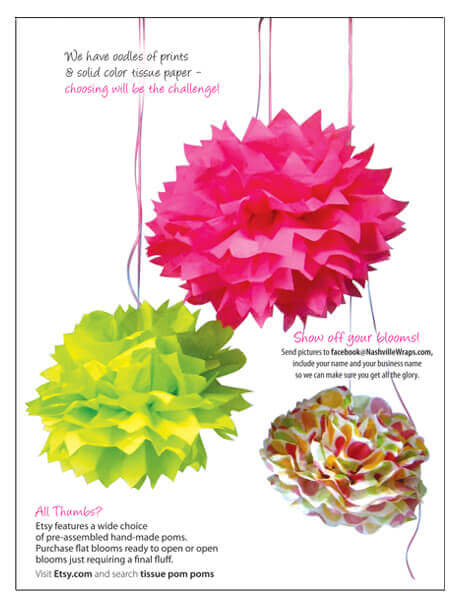 How to make tissue paper pom pom flowers bloom big nashville wraps heres how lee does it tissue paper blooms mightylinksfo