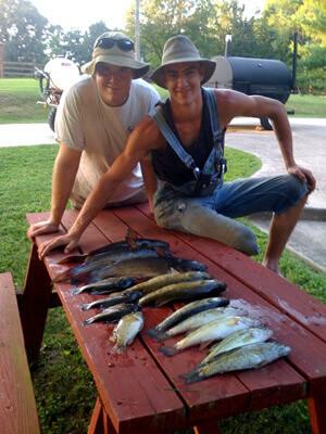 Creek fishing on July 4