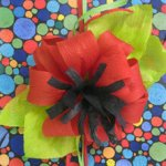 Crinkle paper bow