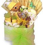 Teddy bear gift basket