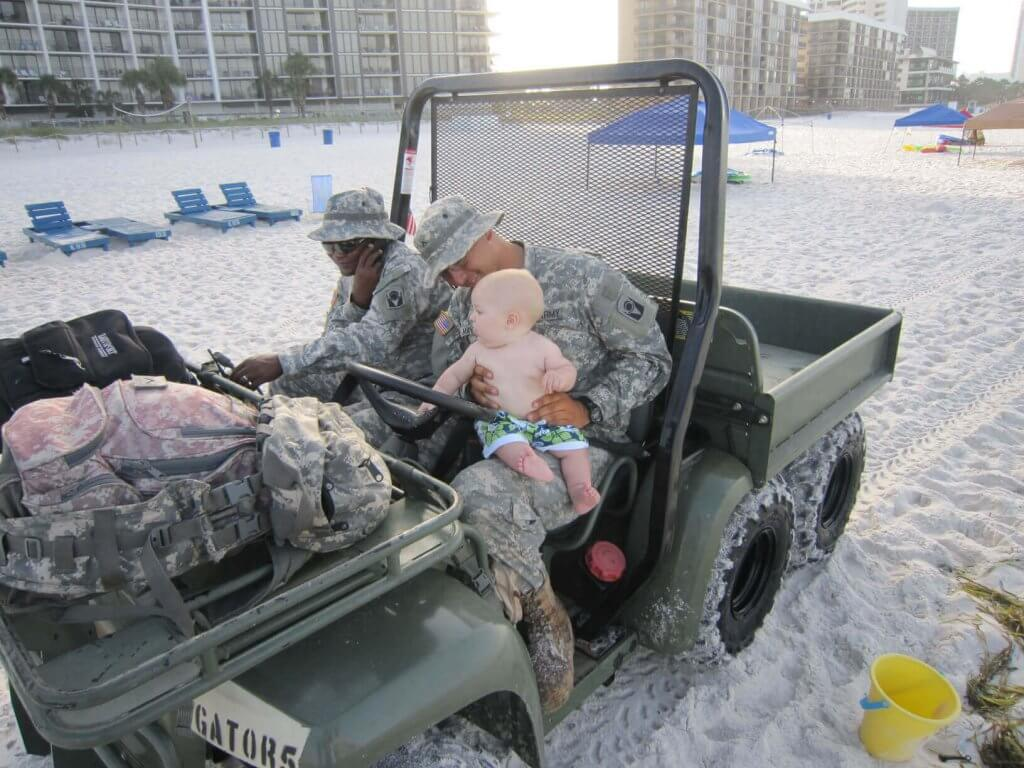 Beaches are patroled by friendly army reserves