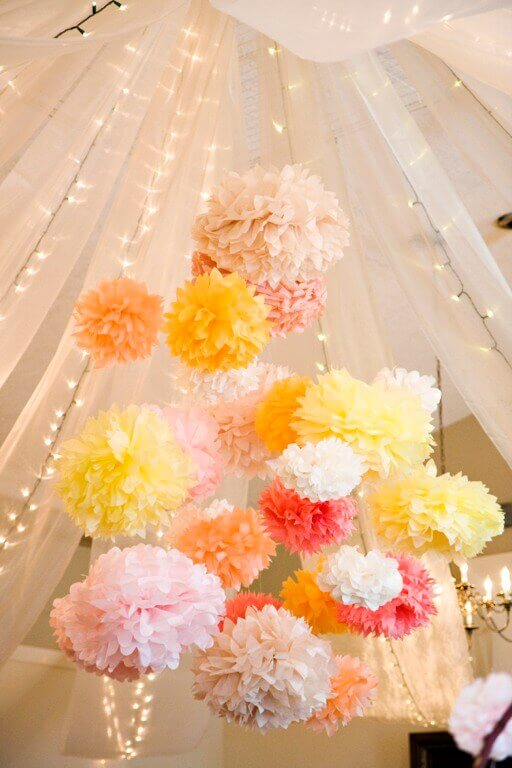 Tissue Poms Wedding