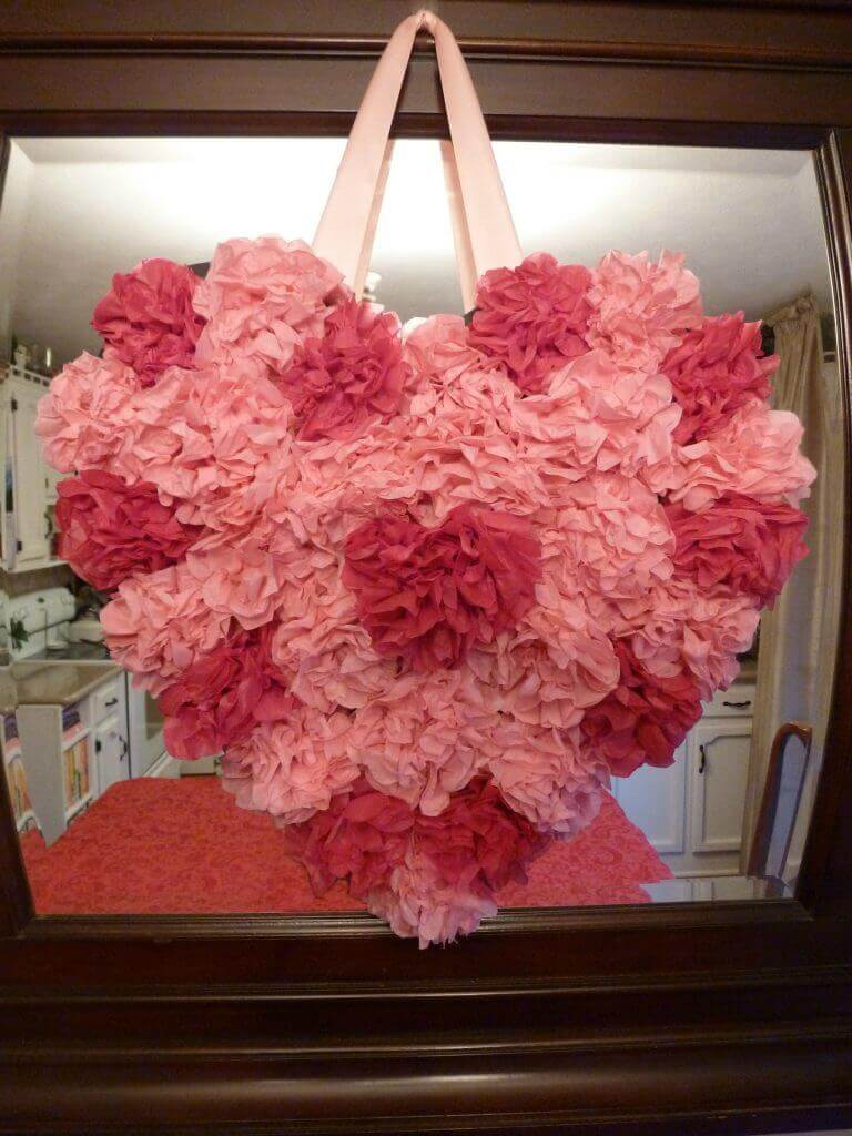 Valentine Heart - Tissue Flowers