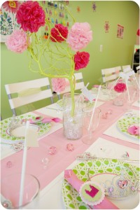 Tissue Pom Tree Branches from Sparkling Events & Designs