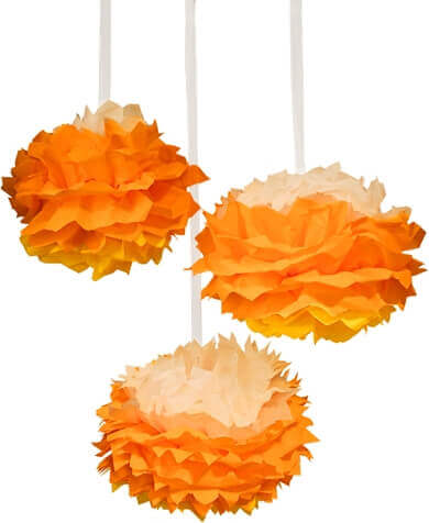 Candy Corn Tissue Poms