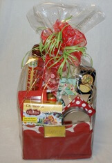 Beautiful red gift basket