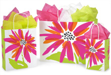 Brushed Floral Bags