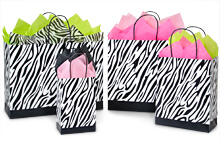 Zebra Shopping Bags