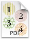 1 through 4 printable numbers