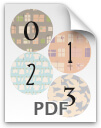 0 through 3 printable numbers - pattern 2