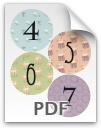 4 through 7 printable numbers - pattern 2