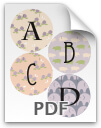 A through D printable letters - pattern 2
