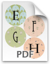 E through H printable letters - pattern 2