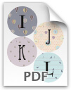 I through L printable letters - pattern 2