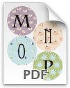 M through P printable letters - pattern 2
