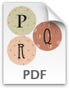 P through R printable letters - pattern 2