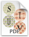 S through V printable letters - pattern 2