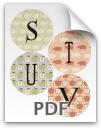 S through V printable letters - pattern 2