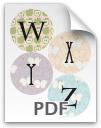 W through Z printable letters - pattern 2