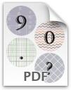 9 through ? printable numbers