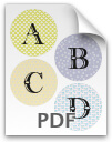 A through D printable letters