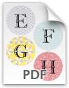 E through H printable letters