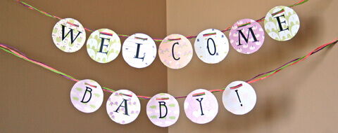 Welcome Baby garland