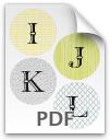 I through L printable letters