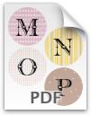 M through P printable letters