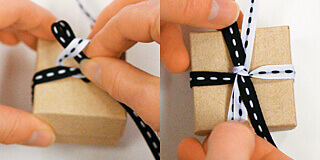 How to tie a perpendicular bow