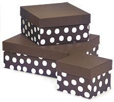 Polka dot box tower