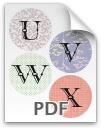 U through X printable letters