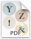 Y through & printable letters
