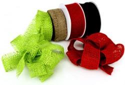 Burlap ribbons