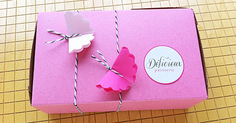 Butterfly bakery box