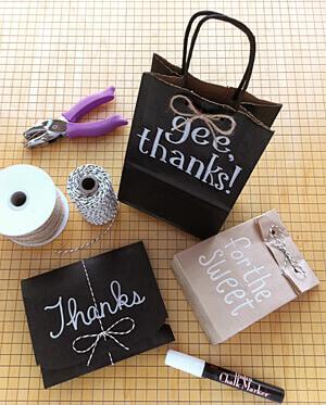 Chalkboard Favor Bags