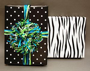 Polka Dot & Zebra gift wraps