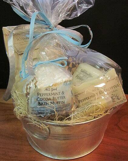 All Good Things Soaps - basket