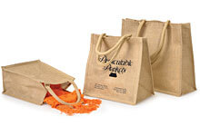 Burlap reusable bags