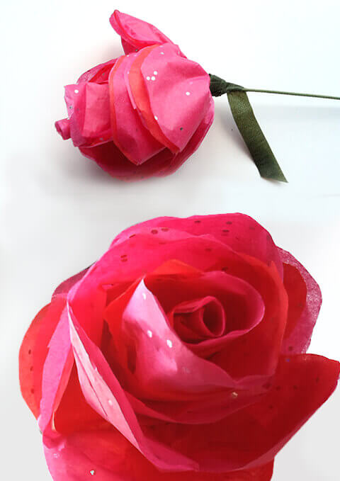 How to make simple tissue paper roses nashville wraps blog when mightylinksfo
