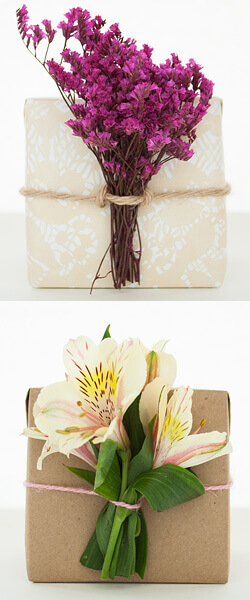 Twine+fresh flowers=beautiful packaging!